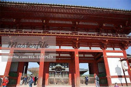 Middle gate to Great Buddha Hall (Daibutsuden), Todaiji temple, Nara, Japan