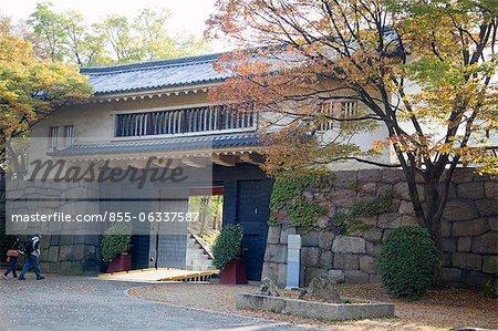 Entrance gateway to Osaka Castle, Osaka, Japan