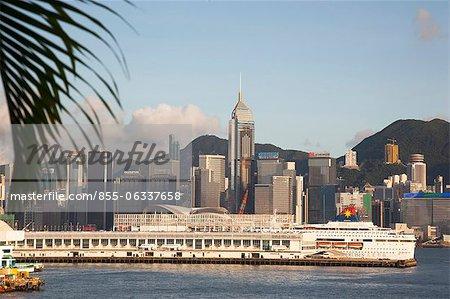 Ocean Terminal and Wanchai skyline, Hong Kong