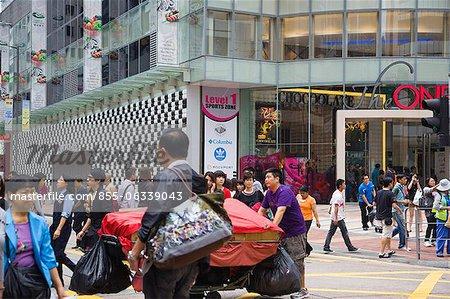 Streetscape, Tsimshatsui, Kowloon, Hong Kong