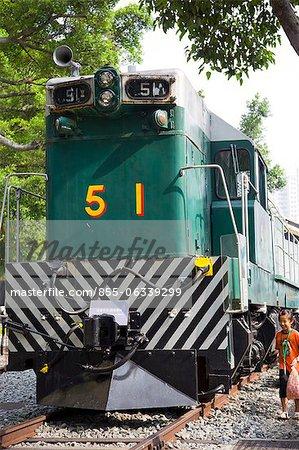The retired Sir Alexander diesel locomotive exhibited at Hong Kong Railway Museum, Taipo, Hong Kong
