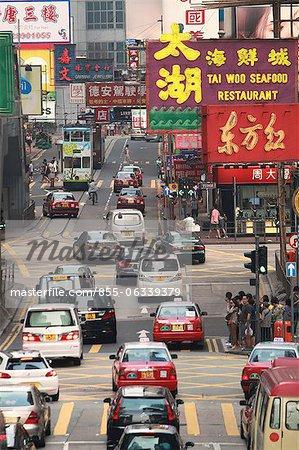 Busy Percival Street, Causeway Bay, Hong Kong