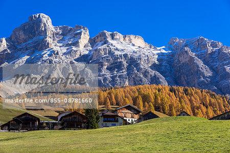 Autumn larch colours at Dolomiti Alps, Dolomites, Italy