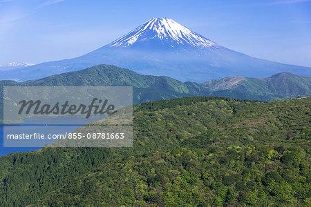 Mt Fuji and Lake Ashi viewed from Daikanyama, Hakone, Kanagawa prefecture, Japan