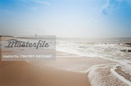 Surf on the beach, Dwarka Beach, Dwarka, Gujarat, India