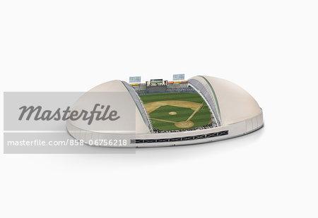 Baseball Stadium On White Background