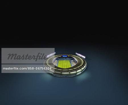 Digitally Generated Stadium