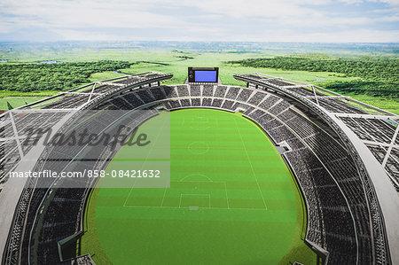 CG soccer stadium