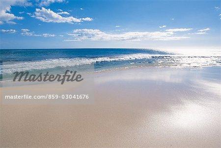 Waves Washing A Beach