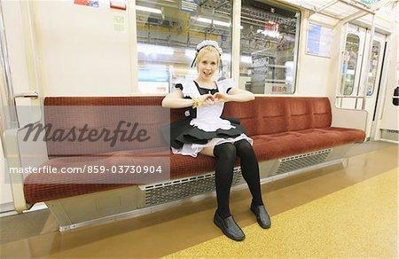 Maid Sitting In Train