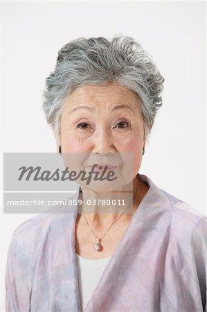 Senior Woman Wearing Robe