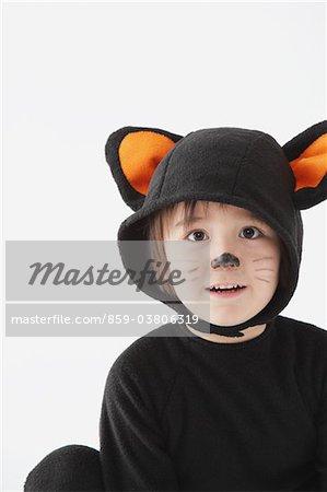 Boy Dressed As Cat Costume
