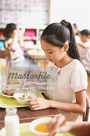 Girl Having Food
