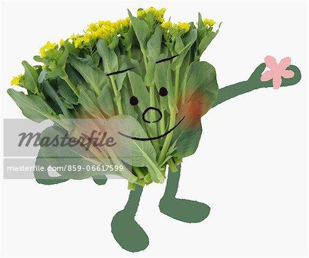 Japanese Mustard Spinach Illustration