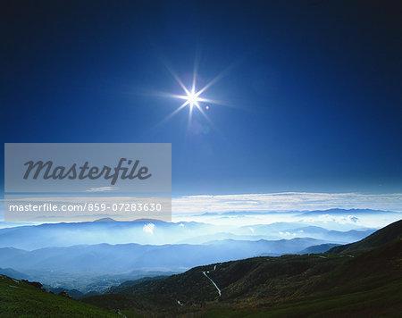 South Alps From Norikura, Gifu, Japan