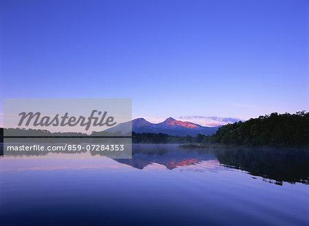 Onogawa Lake And Mt. Bandai, Fukushima, Japan