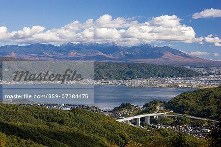 Mt. Yatsugatake And Suwako, Nagano, Japan