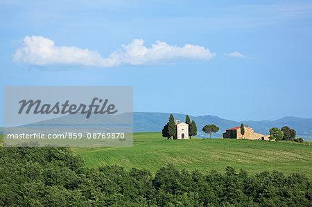 Italy, Tuscany, Toscana, Orcia Valley, Val d'Orcia, UNESCO World Heritage