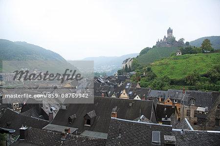 Germany, Rhineland-Palatinate, Moselle Valley, Cochem, Reichsburg Castle