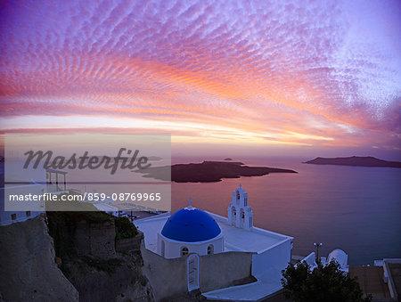 Greece, Cyclades Islands, Santorini Island, Thira
