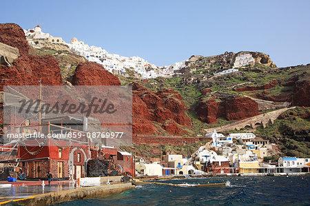 Greece, Cyclades islands, Santorini Island, Amoudi Bay