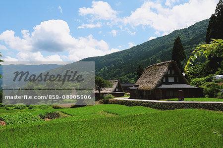 Traditional Japanese village in Gokayama, Toyama Prefecture, Japan