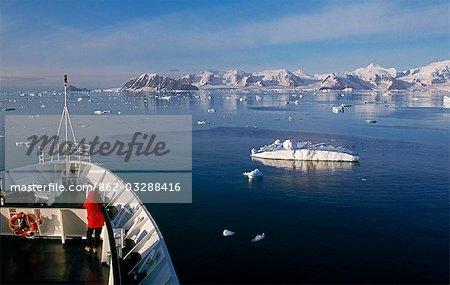 Cruise ship entering Marguerite Bay.