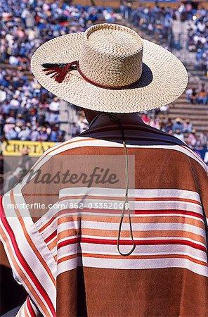 A huaso's finely woven manta (cape),National Rodeo Championship
