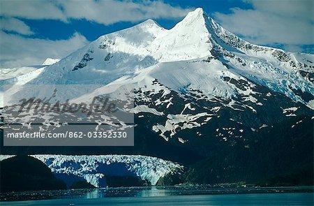 Chile,Region XII,Tierra del Fuego. Mt Buckland and Gallegos Glacier,Cordillera Darwin.