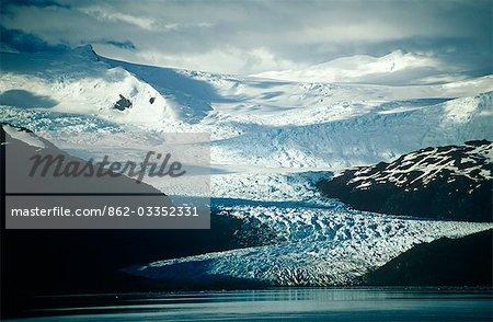 Chile,Region XII,Tierra del Fuego. Mountains of the Cordillera Darwin.