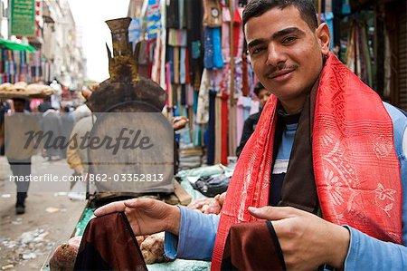 Characters in the market on Sharia El Muski near Khan El Khalili,Cairo,Egypt
