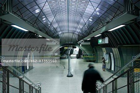 England,London. London Bridge Tube Station.