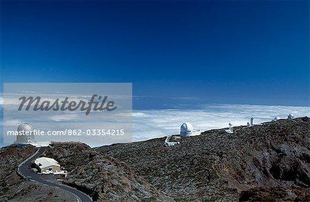 Observatorio astrofisico del roque de los Muchachos on the rim of The Caldera de Taburiente
