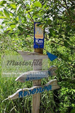 Norway,Nordland,Helgeland,Rodoy Island. Footpath on the island of Rodoy.