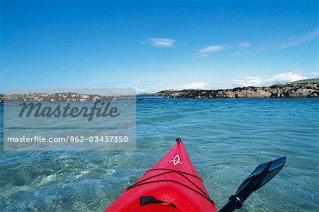 Sea kayaking around the coast of Coll