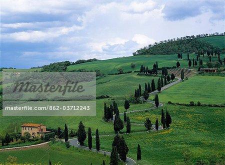 A local road,Monticchiello,Tuscany