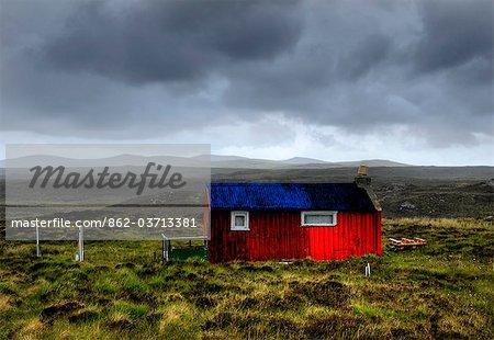 HDR image of a croft, Hebrides, Scotland, UK