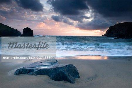Sunset on Dalbeg beach, Isle of Lewis, Hebrides, Scotland, UK