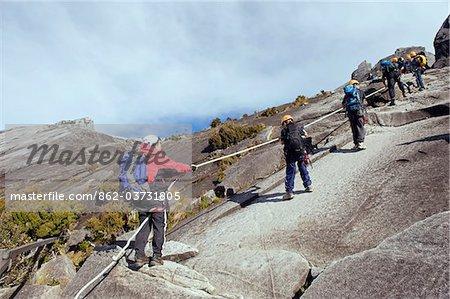 South East Asia, Malaysia, Borneo, Sabah, Kinabalu National Park, Malaysias highest mountain (4095m), hikers