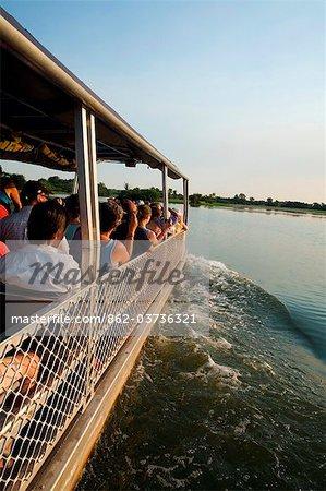 Australia, Northern Territory, Kakadu National Park, Cooinda.  Wildlife spotting cruise in the Yellow Water Wetlands.(PR)