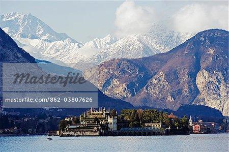 Europe, Italy, Lombardy, Lakes District, Isola Bella, Borromean Islands on Lake Maggiore