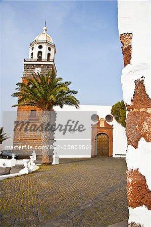 Church of Tahiche in Lanzarote Island.