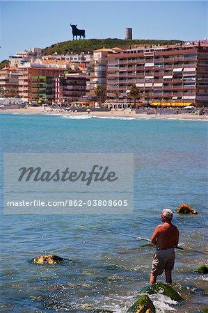 Coast of Benalmadena, Costa del Sol, Andalusia, Spain