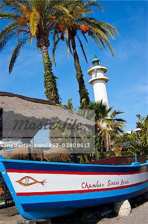 Lighthouse of Caleta de Velez, Andalusia, Spain