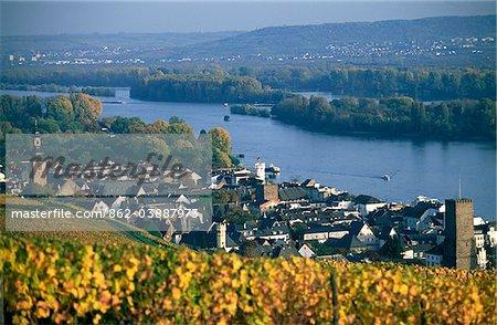 Rudesheim, Rhine, Hesse, Germany