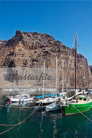 Harbour, Playa de Vueltas, Valle Gran Rey, La Gomera, Canary Islands, Spain
