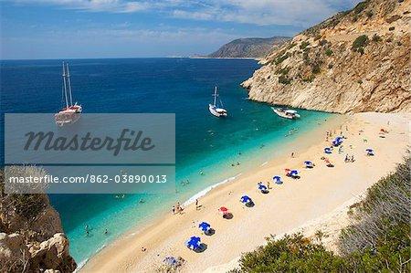 Kaputas beach near Kalkan, Aegean, Turquoise Coast, Turkey