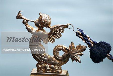 Traditional gondola figurine, Venice, Veneto region, Italy