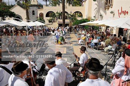 San Cristobal Traditional Folk Group. Las Palmas de Gran Canaria, Canary islands