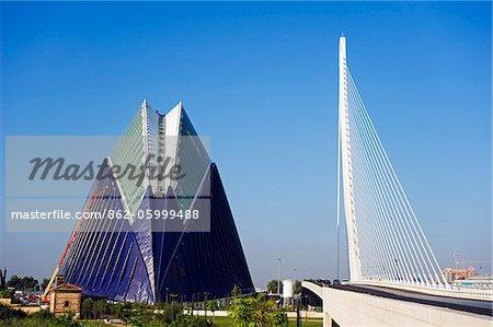 Europe, Spain, Valencia, Puente del Grao, City of Arts and Sciences